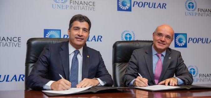 Banco Popular con los Principios de Banca Responsable de Naciones Unidas