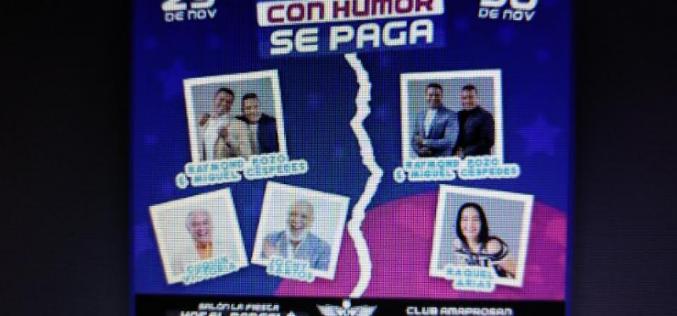 Raymond y Miguel, ahora con «par de viejos» (Cuquín y Jochy) para tremendo espectáculo en la Capital; pero también con la típica Raquel Arias, en Santiago