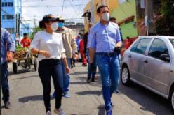 Robertico Salcedo acompañando a Faride Raful, en campaña «full»