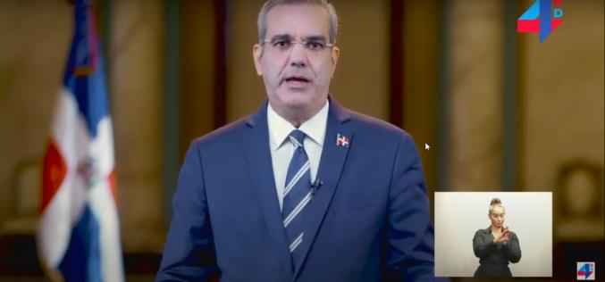 (Video) Presidente Abinader promete no incluir impuestos en Presupuesto; dice crisis es por pandemia, pero también por corrupción e impunidad gobiernos PLD